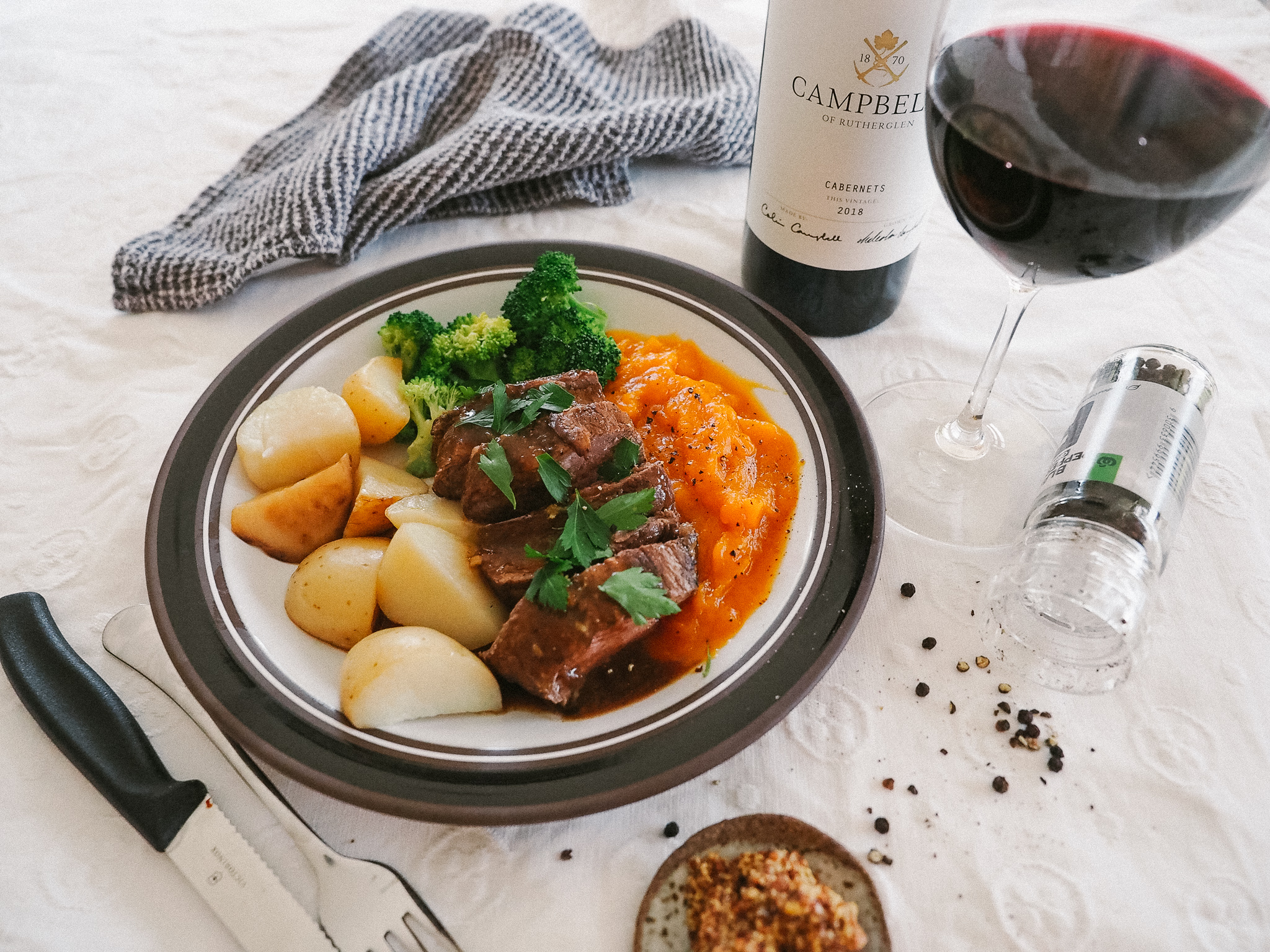 Tuscan Beef Steak with Vegetables